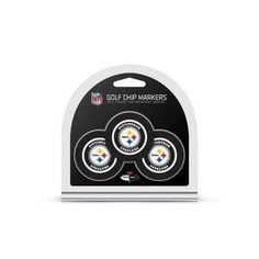New! Pittsburgh Steelers Golf Chip with Marker 3 Pack #PittsburghSteelers