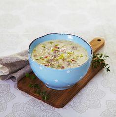 Lettvint og supergod suppe med god smak av krydderost.