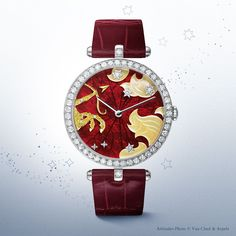 Poetic Astronomy by Van Cleef & Arpels. Lady Arpels Zodiac Sagittarius timepiece from 'Extraordinary Dials' collection.