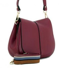 Überschlagtasche Helena Round weinrot Leder Gianni Chiarini - Bags & more Bordeaux, Bags, Fashion, Lilac, Pouch, Hand Bags, Leather, Handbags, Moda