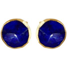 Janna Conner Lapis Studs Drops Earrings ($74) ❤ liked on Polyvore featuring jewelry, earrings, stud earrings, janna conner jewelry, drop earrings, stud drop earrings and studded jewelry