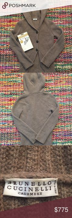 Brunello Cucinelli Cashmere Sweater w/Hood Gently Worn! but in Great Condition! Brunello Cucinelli Sweaters Cardigans