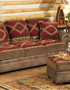 The hessel redwood sofa from ashley furniture homestore for A p furniture trail