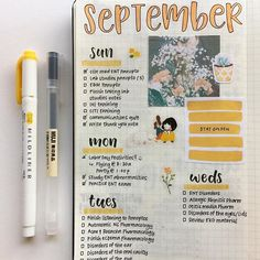Hello, September! Excited for the beginning of sweater weather, pretty orange trees and hot drinks! ☕️ . . . #handwritten #handwriting #handlettering #lettering #planner #productive #monthly #motivation #weeklyspread #todolist #bulletjournal #bujo #study #studybreak #studyspo #studyinspo #journal #journaling #studyblr #studygram #student #studying #tombowdualbrushpens #brushpen #moleskine