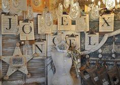 Could spell out store name and use at craft fair!