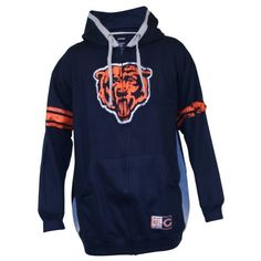 NFL Big and Tall Full Zip Hoodie - Chicago...