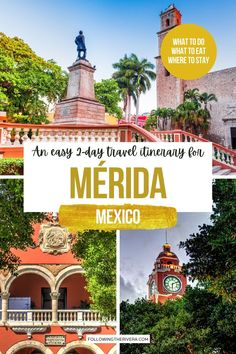 World Most Beautiful Place, Beautiful Places To Visit, Mexico Destinations, Travel Destinations, Central America, North America, Travel Guides, Travel Tips, Merida Mexico