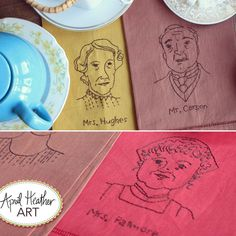 Downton Abbey Embroidery Pattern: Mr. Carson, Ms. Hughes, Ms. Patmore