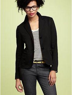 I've been needing a comfy black blazer...voila!