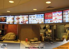 Arby's Atlanta, GA - ViewStation QSR by ITSENCLOSURES Drive Thru Digital Menu Boards #ViewStation