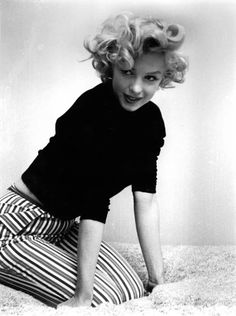 Marilyn Monroe in striped slacks (please follow minkshmink on pinterest)