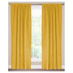"Siscovers Padma Pollen Curtain Panel - Padma Pollen (52"" x 96""), Pollen Yellow"