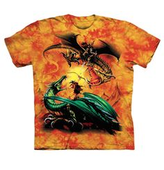 The Mountain Artwear Company Dragon Duel Boys Shirt Hand Printed In The USA With Eco-Friendly In Space City Kids Clothing Conroe Texas Boys Shirts, Tee Shirts, Dragon Kid, Warriors Shirt, Plus Size T Shirts, Tie Dye T Shirts, Screen Printing, Graphic Tees, Prints