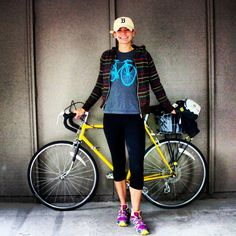 #BikeStylish Day 35 (not a very stylish look on my way to softball, but I was honest about what I actually wore everyday)