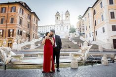 Romantic Couple Photo Shooting in Rome. An early morning session walking from the Trevi fountain to the Spanish steps capturing unique pictures in Italy Couple Portraits, Couple Photos, Couple Kissing, Trevi Fountain, Rome Italy, Romantic Couples, Photo Sessions, Cool Pictures, Portrait Photography