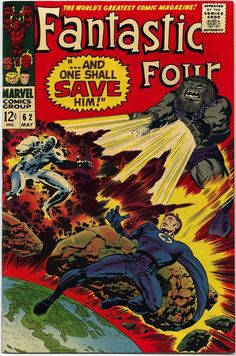 Fantastic Four 62 Jack the King Kirby silver age Marvel comics group Marvel Comics, Marvel Comic Books, Comic Books Art, Marvel Heroes, Comic Superheroes, Marvel Vs, Jack Kirby, Stan Lee, Univers Marvel