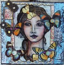art journal faces - Google Search