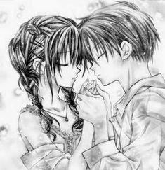 Dibujos De Amor De Anime Con Frases A Lapiz Dibujos A Lapiz En