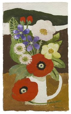 Mary Fedden (1915 - 2012) Red Poppies