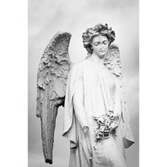 Angel Print Wounded Angel Statue Fine Art Photograph Irish Guardian... ($37) ❤ liked on Polyvore featuring home, home decor, wall art, black and white wall art, angel statue, angel statuary, photo statue and photography wall art