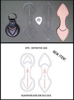 Keyfob Template Set - Holds 351 Shape Gutar Pick - 2 Piece - Free Shipping