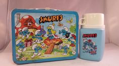 1982 Smurfs Metal Lunch Box