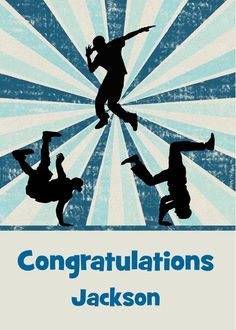 Congratulations on Dance Recital Custom Name with Male Silhouettes card. Personalize any greeting card for no additional cost! Cards are shipped the Next Business Day. All Silhouettes, Dance Training, Natural Instinct, Dance Recital, Hip Hop Dance, Congratulations Card, Name Cards, Create A Logo, Art Logo