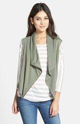 Caslon® Drape Front Knit Vest