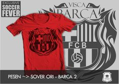 "Kaos BARCELONA #2  ""VISCA BARCA"" [READY STOCK] SABLON    : HITAM SOFT RUBBER twitter : BolaBolatshirt"