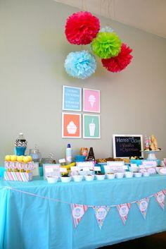 Ice Cream Social / Summer Ice Cream Shoppe | Catch My Party