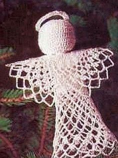crochet pattern - angel tree topper