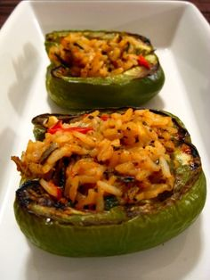 These peppers almost always make it on our monthly meal plan. The stuffing is so yummy! Added bonus they are pretty quick to make.