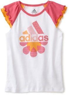 adidas Girls 2-6X Daisy Daze Raglan Tee