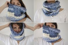 crochet snood neck warmer