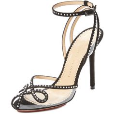 Charlotte Olympia Risque Embellished High Heel Sandal ($329) ❤ liked on Polyvore
