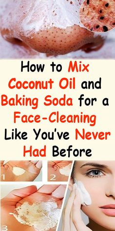Coconut Oil Uses - How to mix coconut oil and baking soda for a face-cleaning like youve never had before - The Beauty Goddess 9 Reasons to Use Coconut Oil Daily Coconut Oil Will Set You Free — and Improve Your Health!Coconut Oil Fuels Your Metabolism! Baking Soda Face Wash, Baking Soda Uses, Baking Soda For Skin, Baking Soda Scrub, Baking Soda Coconut Oil, Baking Soda Cleaning, Baking Soda Hair, Diy Beauty Hacks, Beauty Hacks For Teens