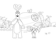 Kate and mim mim coloring page
