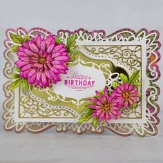 Royal Asters Handmade Greeting Card - This year, create an elegant birthday card for your loved ones! Want more cardmaking ideas? Check out the Heartfelt Creations blog for more papercrafting techniques, projects, and ideas for beginners and advanced crafters! Pin now to save for later! #HeartfeltCreations #stamps #dies #blog #handmadecard Birthday Sentiments, Birthday Cards, Heartfelt Creations Cards, Card Making Tutorials, Paper Crafts, Card Crafts, Ink Stamps, Aster, Flower Shape