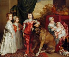 The Royal Collection: The Five Eldest Children of Charles I. The future Charles II center. Young boys would wear frocks until age 8.