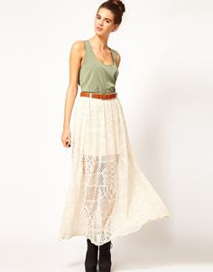 Enlarge River Island Chelsea Girl Lace Maxi Skirt