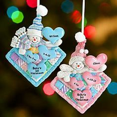 Baby's 1st Christmas Patchwork Quilt Ornament | Personal Creations