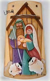 Resultado de imagen para tejas decoradas de navidad