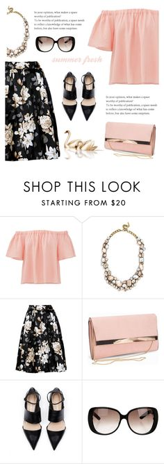 """Look 1 ( 07 / 20 / 2016 )"" by aneetaalex ❤ liked on Polyvore featuring Rebecca Taylor, BaubleBar, New Look and Gucci"