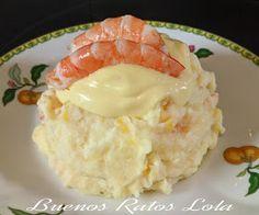 Pastel de patata con merluza y langostinos | BUENOS RATOS LOLA