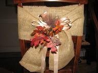 burlap sash chair - Burlap Projects