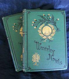 The Antiquary Walter Scott Waverley Vol 5 & 6 Thistle Ed. 1874 Hale & Son, Beautiful Antique Books