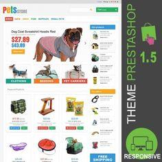 Thème Premium et responsive PrestaShop 1.5 pour la création d'une animalerie. Thème PrestaShop dédié à la vente de produits et accessoires pour les animaux.