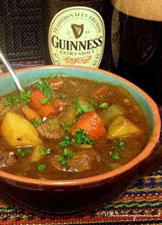 Guinness Beef Stew Recipe - Stovetop & Slow Cooker Instructions     whatscookingamerica.net    #guinness #beef #stew #stpatricksday