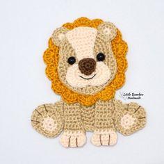 Crochet Patterns Amigurumi, Baby Knitting Patterns, Crochet Toys, Crochet Baby, Cat Applique, Applique Patterns, Tiger Pattern, Crochet Hook Sizes, Stuffed Animal Patterns