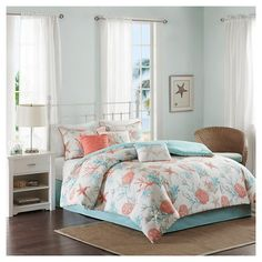 Ocean View Comforter Set Coral - 7pc : Target